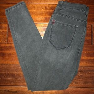 BDG Grey High-Waisted Skinny Jeans